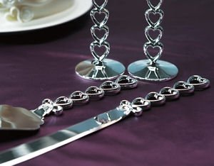 Stacked Hearts Cake Server & Knife Set image