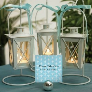 Mini White Lanterns with Hanger (Set of 2) image