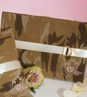Camouflage and Lace Wedding Guest Book image
