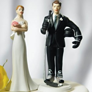 Hockey Player Groom Mix and Match Cake Topper image