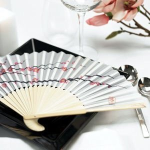 Cherry Blossom Hand Fans (Set of 6) image