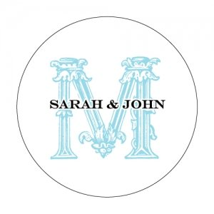 Personalized Ornamental Baroque Stickers image