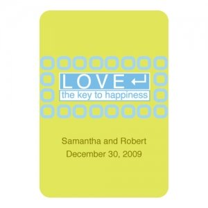 'LOVE - The Key to Happiness' Custom Stickers image
