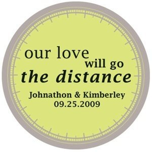 'Our Love Will Go the Distance' Custom Stickers image