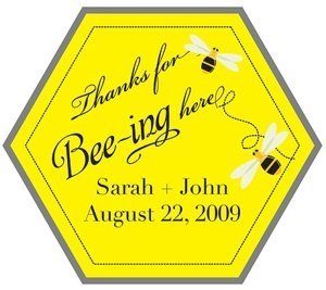 Custom 'Thanks for BEEing here' Stickers image