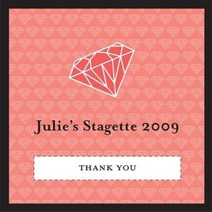 Personalized Pink Diamond Favor Tags (Set of 20) image