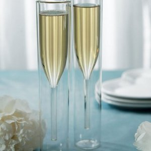 Modern Toasting Flutes with Double Wall Design image