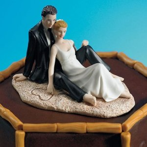 Beach Wedding Cake Toppers image