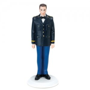 US Army Military Groom Wedding Cake Topper (Mix & Match) image