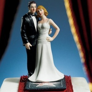 Stars For A Day' Hollywood Couple Cake Topper image