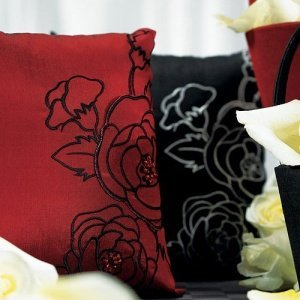 Silhouettes in Bloom Ring Pillow image