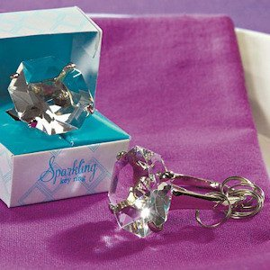 Gift-Boxed Novelty Diamond Key Chain Favor image