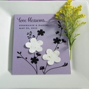 Plantable 'Love Blossoms' Wildflower Seed Favors (Set of 12) image