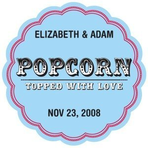 Personalized Popcorn - Topped with Love Stickers image