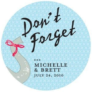 Personalized Don't Forget Elephant Sticker image