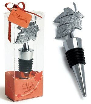 Leaf Wine Bottle Stopper in Gift Packaging image