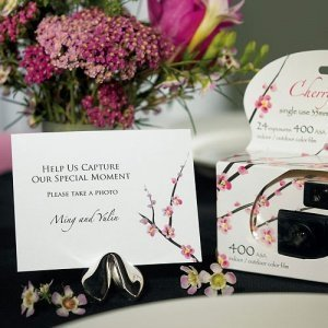 Cherry Blossom Camera Table Sign (Set of 6) image