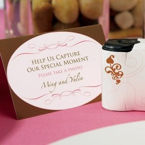 Wedding Memories Camera Table Signs (Set of 4) image