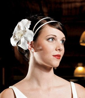 Satin Wrapped White Headband image