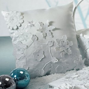 Winter Finery Ring Pillow image