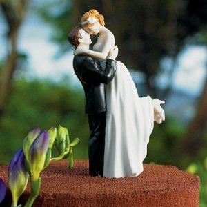 True Romance Couple Wedding Cake Topper (3 Skin Tones) image