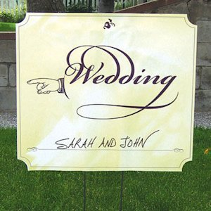 Wedding Directional Signs image