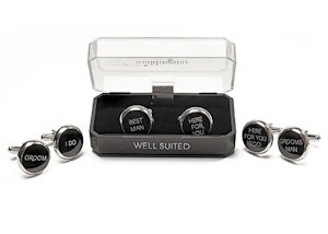 Wedding Novelty Cuff Links (Groom - Best Man - Groomsman) image