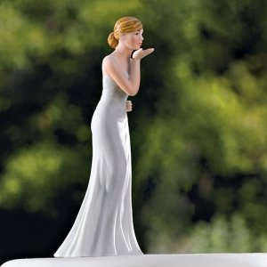 Blowing Kisses Mix and Match Bride Cake Topper image