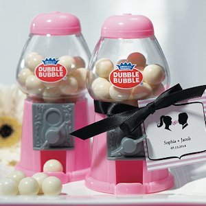 Classic Mini Pink Gumball Machine Party Favors image
