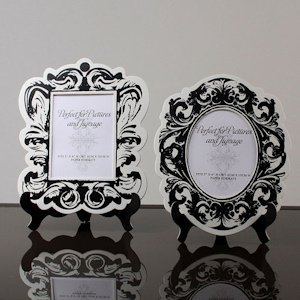 Baroque Paper Frames With Table Easels (Black or Gold) image
