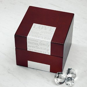 Wedding Wishes Wooden Note Box image