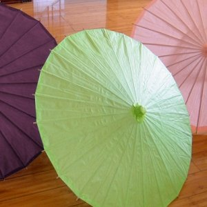 Pretty Paper Parasol with Bamboo Boning - 18 Colors image