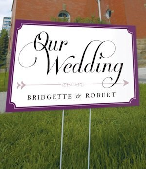 Personalized Expressions Outdoor Wedding Sign image