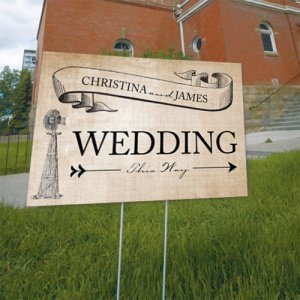 Rustic Country Wedding Directional Sign image