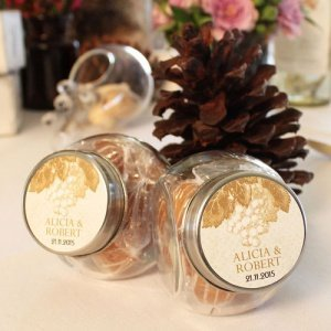 Wine Themed Mini Candy Jars (Set of 12 - 5 Colors) image
