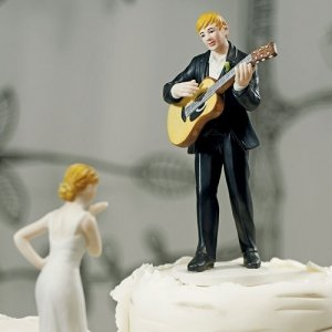 Guitar Playing Groom Mix and Match Cake Top (7 Hair Colors) image
