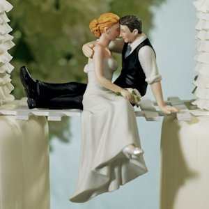 The Look of Love Wedding Couple Cake Topper image