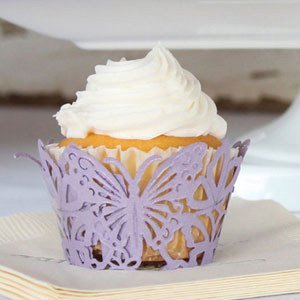 Butterfly Filigree Cupcake Wrappers (Set of 12 - 4 Colors) image