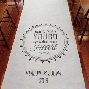 Free Spirit Personalized Aisle Runner image