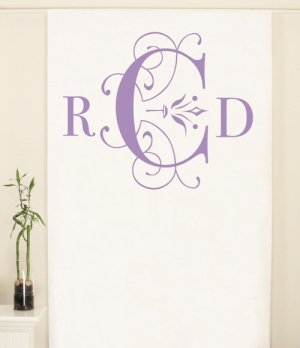 Personalized Classic Monogram Photo Backdrop (4 Colors) image
