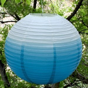 Ombre Colored Round Paper Globe Lanterns (5 Colors) image