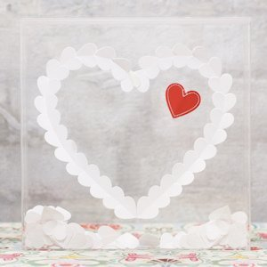 'From The Heart' Clear Shadow Box (Guest Book Alternative) image