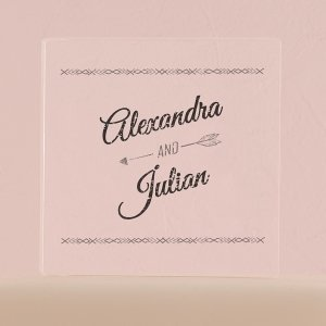 Free Spirit Personalized Clear Acrylic Block Cake Topper image