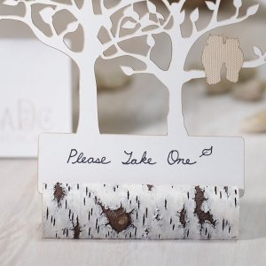 Faux Birch Log Rustic Place Card Holders (Set of 6) image
