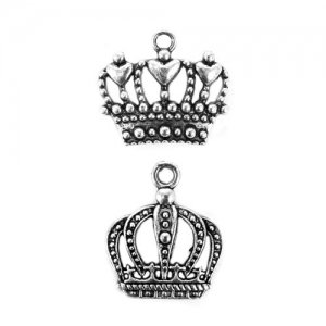 Royal Crown Charms (Set of 12) - 2 Designs image