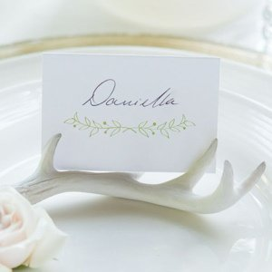 Miniature Faux Antler Stationery Card Holders image