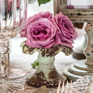 Vintage Inspired Iron Taper Candle Holder image