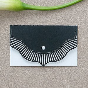 High Style in Black Laser Embossed Place Cards (Set of 20) image