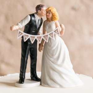 Shabby Chic Pennant Bride & Groom Mix and Match Cake Top image
