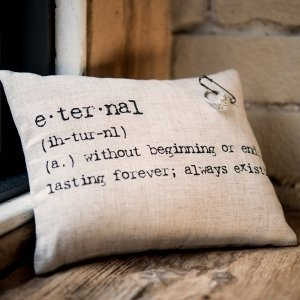 Natural Linen Vintage Type Ring Pillow image
